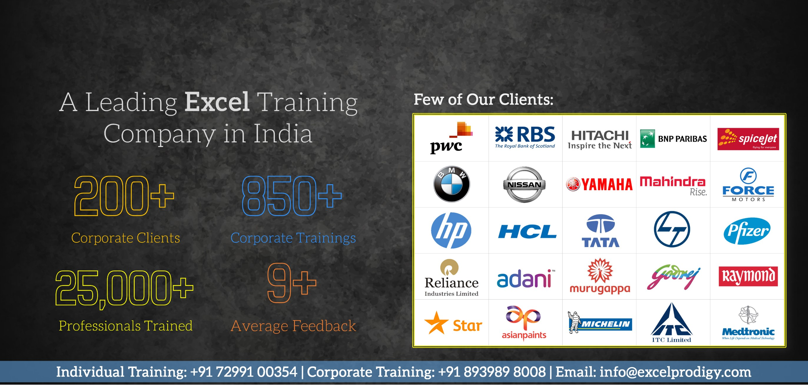 Excel Training Institute Chennai