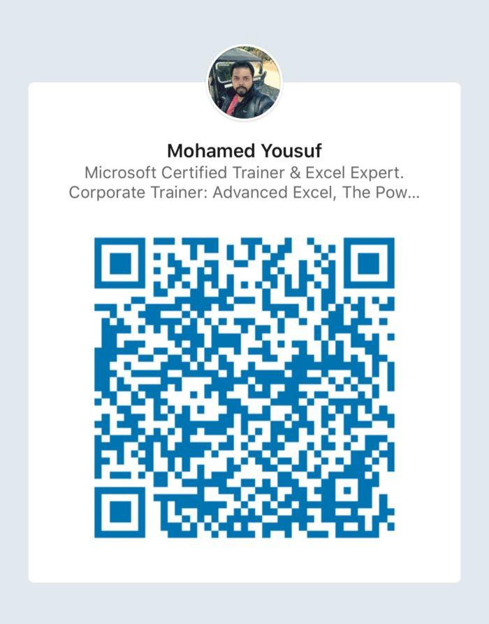 Mohamed Yousuf Linkedin Profile